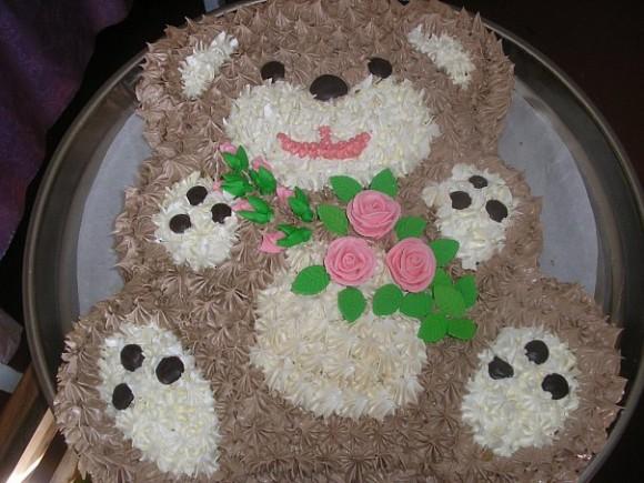 Торт в виде мишки своими руками фото