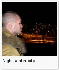 Night winter city